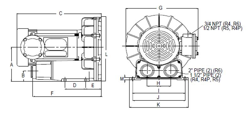 Regenerative Blower GAST R4 Series