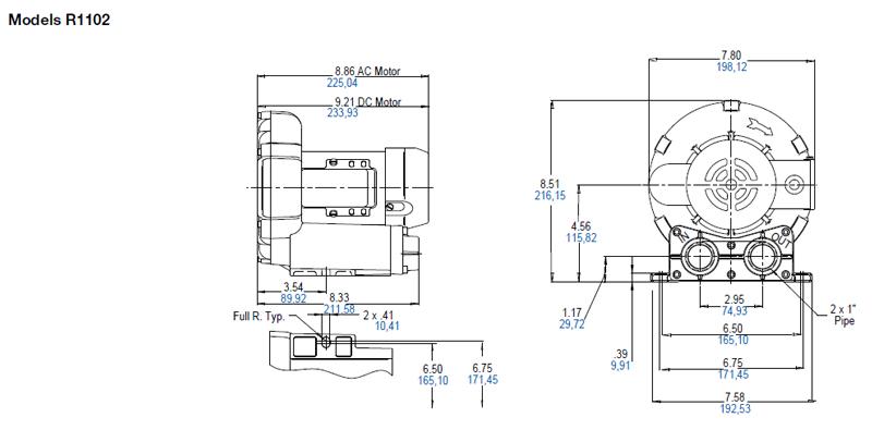 Regenerative Blower GAST R1 Series