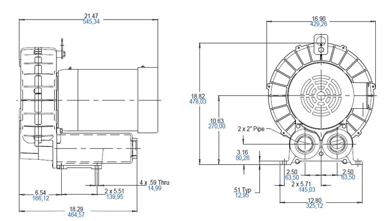 Regenerative Blower GAST R4H Series